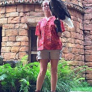 アメリカの象徴である鷲。アメリカ人ゲストのテンションが上がります。