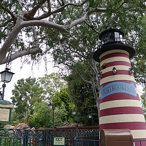 ケープコッドっぽい灯台がありました。
