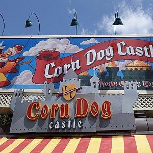 Corn Dog Castleの看板