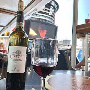 真っ昼間にラプンツェル見ながら、美味しいワインを飲めるなんて幸せこの上なしですねー!!!
