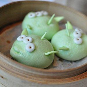 【食】リトルグリーンメンポークとベジタブル・バングリーンメンは舞浜にも同じようなものがあるのでなんだか見慣れてますね。野菜っぽいので美味しいです。