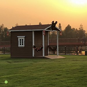 湖畔広場の小屋 サンタ小屋?