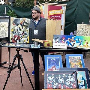 Tim Rogersonさんは昨年の同フェスティバルにも参加していて、その腕前を披露してくれていました。才能あるアーティストの上、とても気さくな方で、サインも気軽にしてくれました。