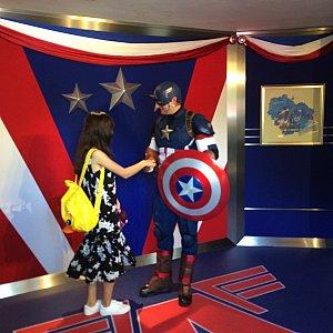 キャプテンアメリカ。メチャメチャかっこよかったです!