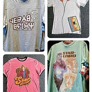 メンズのTシャツ。フィットタイプとゆったりタイプでは、大きさが随分と違いました。 $24.99〜$34.99