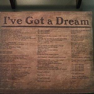 題材のモチーフになった『I've got a dream』