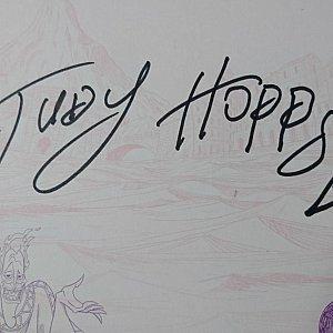 ジュディのサインです♪ニンジンが可愛いです❤️