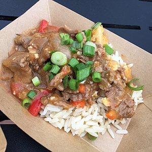 Red Hot Spicy Thai Curry Beef。ちょっとピリッと辛いビーフカレー。多分ココナッツも効いていたと思います。星⭐︎⭐️⭐️。