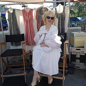 マリリン・モンローはスタジオツアーの入口らへんにいました!